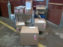 One day's worth of packages