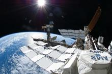 Photo of AMS on International Space Station